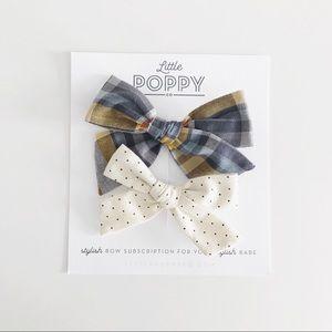LITTLE POPPY CO Girl's Fall '18 Inspired Bow Set